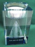 レーザー彫刻キャンドルホルダーMiraculous(無原罪の聖母) ※返品不可商品