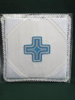 画像1: 典礼聖具パラ (クロス・青)
