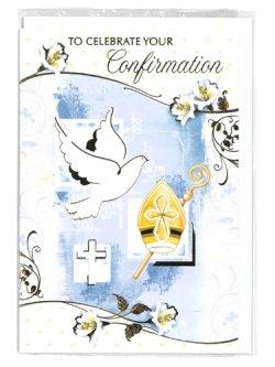 画像1: 二つ折りカード堅信(ブルー・Confirmation)  ※返品不可商品