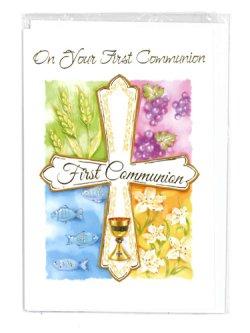 画像1: 二つ折りカード初聖体(First Communion)  ※返品不可商品