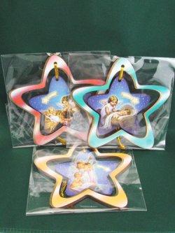 画像2: 木製クリスマスツリーオーナメント (星型・3個セット) ※返品不可商品