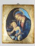 金縁スクエア板絵 聖母子(ボッティチェリ)
