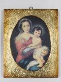 金縁スクエア板絵 聖母子像(ムリーリョ)