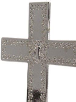 画像5: 台付十字架(聖ベネディクト・銀青 13.5cm) ※返品不可商品