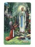 イタリア製 コーティングご絵 (ルルドの聖母とベルナデッタ) ※返品不可商品