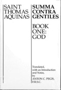 Saint Thomas Aquinas-Summa contra gentiles-Book one: God