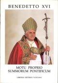 Benedetto XVI-Motu proprio summorum pontificum