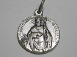 画像1: 聖アウグスチヌス司教のメダイ