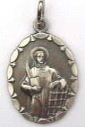 聖ラウレンチオのメダイ(楕円)