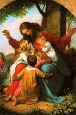 画像1: フィデスポストカード キリストと子供たち (5枚組) ※返品不可商品