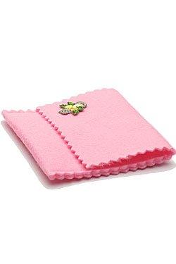 画像1: 手作りロザリオ入れ ピンク(絵柄おまかせ)